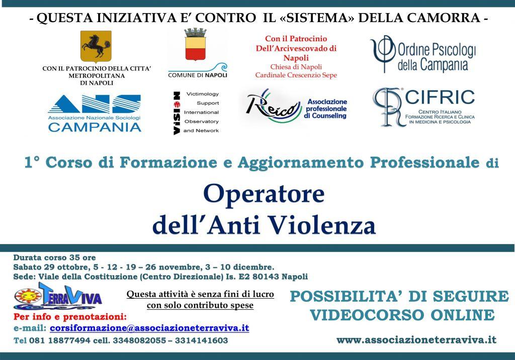 volantino corso formazione operatori centri anti violenza